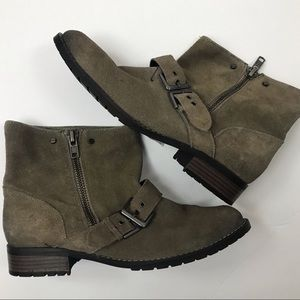 New Dolce Vita Suede Side Zip Moto Boots